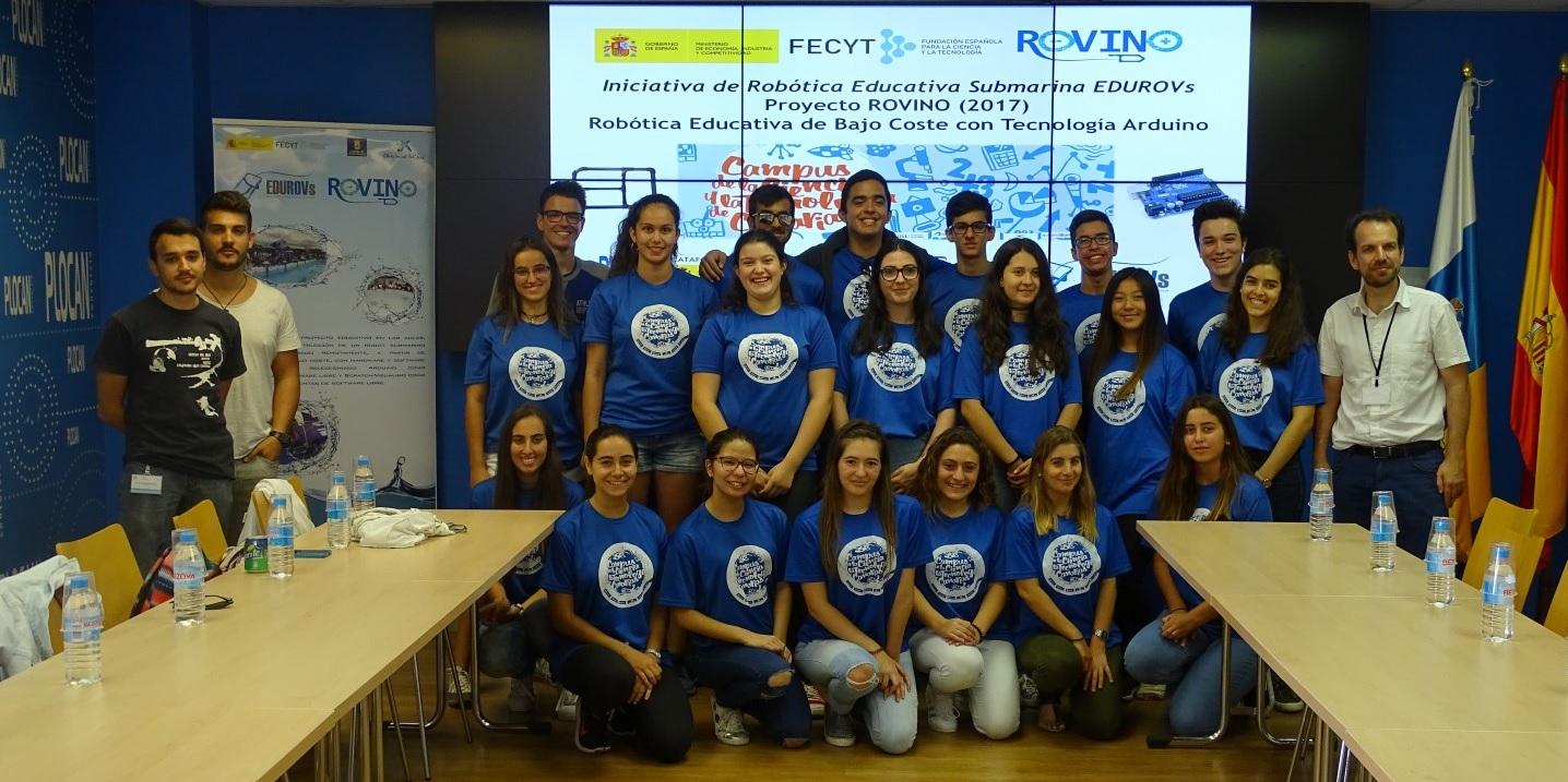 Alumnos del Campus Científico y Tecnológico de Canarias asumen el reto de construir y rediseñar un robot submarino